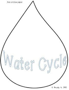 Water Cycle Craftivity Book and Writing Prompts