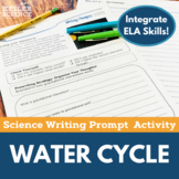 Water Cycle- Writing Prompt Activity- Distance Learning