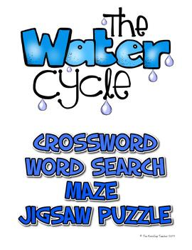 Water Cycle - Crossword, Word Search, Maze, Jigsaw Puzzle
