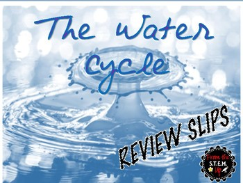 Water Cycle Daily Review Slips