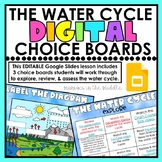 Water Cycle Digital Choice Boards