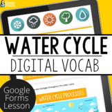 Water Cycle Digital Vocabulary | Distance Learning