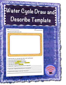 Water Cycle Draw and Describe Template