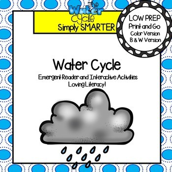 Water Cycle Emergent Reader Book AND Interactive Activities