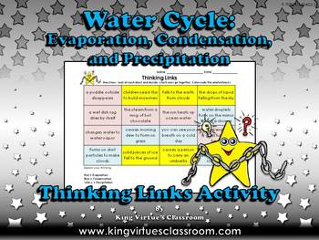 Water Cycle: Evaporation, Condensation, Precipitation Thinking Links Activity