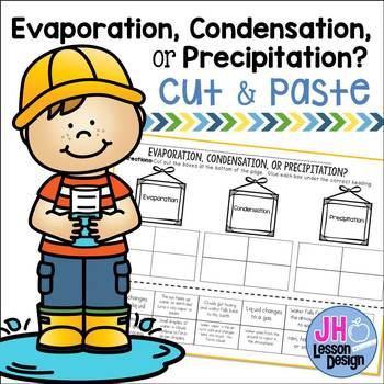 Water Cycle: Evaporation Condensation or Precipitation? Cut and Paste