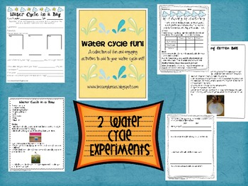 Water Cycle Experiments