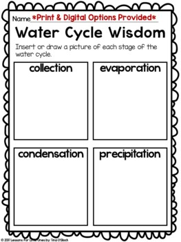 Water Cycle Experiments, Activities, Word Wall Cards, Printables, Craftivities