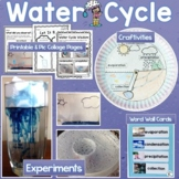 Water Cycle Experiments, Activities, Word Wall Cards, Prin