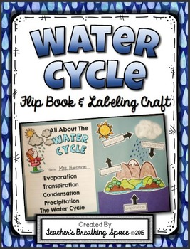 Water Cycle Flip Book --- Water Cycle Labeling Project