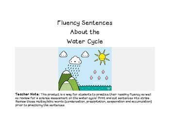 Water Cycle Fluency Sentences
