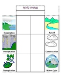 Water Cycle Foldable Graphic Organizer