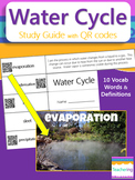 Water Cycle Study Guide with QR Codes