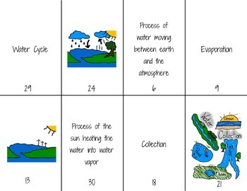Water Cycle Foldable and Activity for Interactive Notebooks