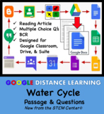 Water Cycle Google Doc - Article & Questions - Distance Learning Friendly