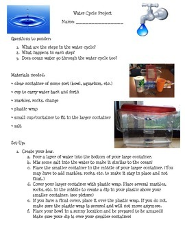 Water Cycle Group Experiment