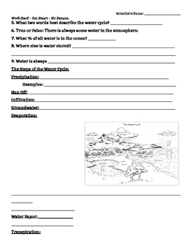 Water Cycle Guided Notes