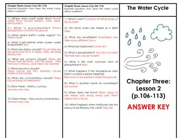 Water Cycle (Houghton Mifflin 4th Grade Science Chapter 3 Lesson 2)