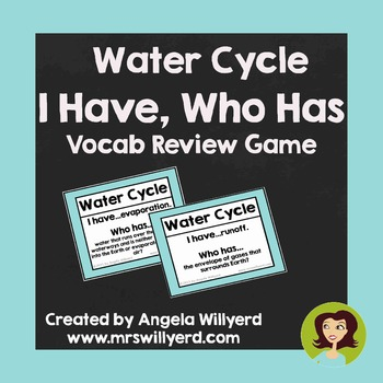 Water Cycle - I Have, Who Has {Vocabulary Review Game}