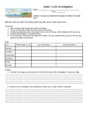 Water Cycle Investigation Activity