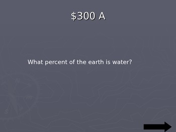 Water Cycle/Water Distribution Jeopardy