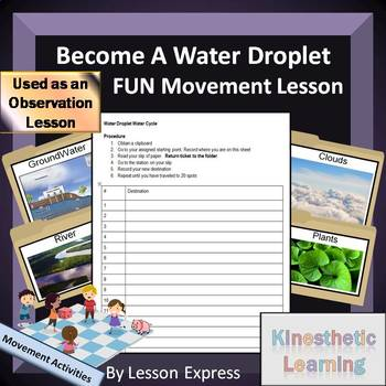 Water Cycle -- Journey Through the Water Cycle Movement Activity