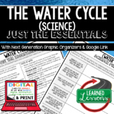 Water Cycle Just the Essentials Content Outlines, Next Generation Science
