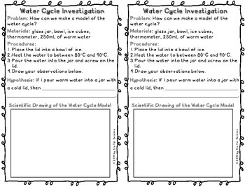 Water Cycle Lab FREEBIE