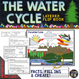 Water Cycle and Weather Facts and Fill Ins Flip Book   Distance Learning