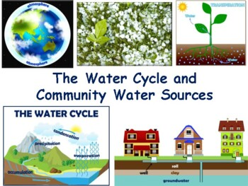 Water Cycle Lesson & Flashcards task cards study guide state exam prep 2017 2018