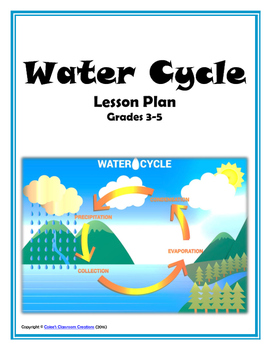 water cycle lesson plan hands on inquiry web quest project rh teacherspayteachers com