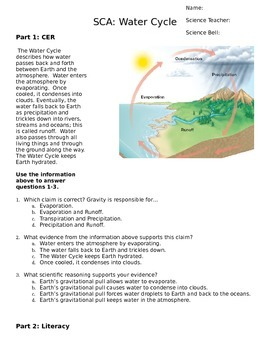 Water Cycle Literacy Quiz