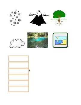 Parts of the Water Cycle Matching Game