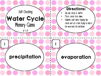 Water Cycle Memory Game