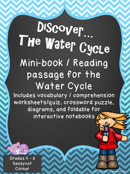 Water Cycle - Mini-book and reading passage