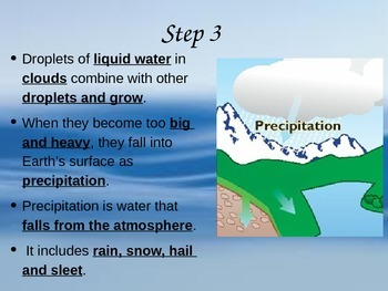 Water Cycle UNIT PowerPoint and Interactive Notes 4th Grade Science