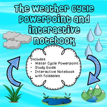 Water Cycle Powerpoint - Interactive Notebook - Study Guide