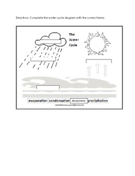 Water Cycle Pre/Post