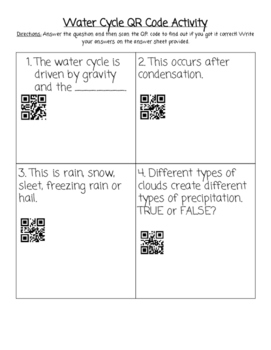 Water Cycle QR Code Activity