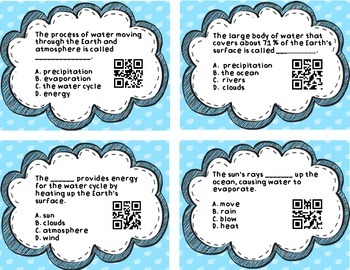 Water Cycle QR Code Task Cards