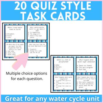 Water Cycle Quiz Task Cards (Utah Core 4th Grade)
