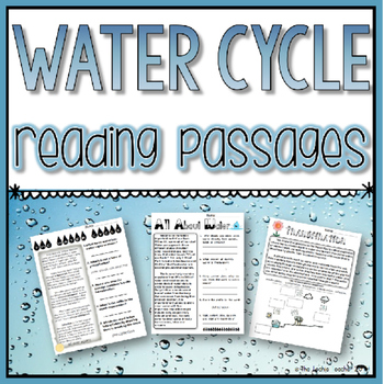Water Cycle Reading Passages By The Techie Teacher Tpt