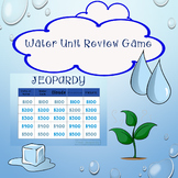 Water Cycle Review Game Jeopardy includes States of Matter, Clouds