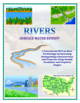 Water Cycle: River Vocabulary with Colorful Images (Graphi