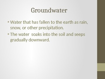 Water Cycle: Runoff and Groundwater
