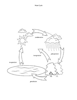 water cycle supplemental aid by the science coach tpt Water Cycle Assimilation water cycle supplemental aid