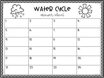 Water Cycle Scoot