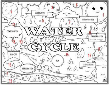 Water Cycle Seek and Find Science Doodle Page