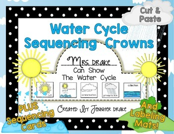 Water Cycle Sequencing Crowns