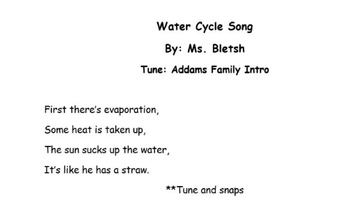 Water Cycle Song Addams Family Style